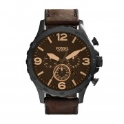 Часовник FOSSIL - Nate JR1487 Dark Brown/Black