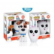 Set 2 piezas max y gidget Funko pop pelicula la vida secreta de tus mascotas pets INCLUYE BOLSA POP PARA REGALO NAVIDAD