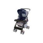 Carrinho de Bebê Travel System Tutti Baby 4 Rodas 4 Posições Suporta até 15Kg Thor Azul
