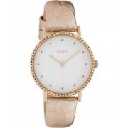OOZOO Timepieces Horloge Rosé Goud Croco/Wit C10423