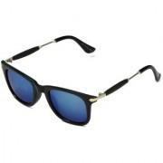 Code Yellow Blue Mirrored Unisex Wayfarer Sunglasses
