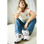 New Balance - Baskets 452 blanches et rouges- taille: UK 5