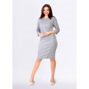 Tremees Grey Jersey Dress with Decorative Buttons