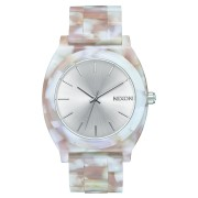 Nixon Time Teller Acetate Watch Pink Silver