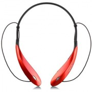 Tagon Neck Band Hi-Definition BluetoothHeadsets with Noise Cancelling StereoSport Headset -TAGON-BT-HS-046-Crimson Red