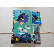 Finding Dory Back To School Set Featuring 1 Spiral Notebook 1// 2 pack of Erasers and 1 packs of 4 Pencils 1 Pencil Case Innovative Designs LLC