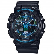Ceas barbatesc Casio G-Shock GA-100CB-1AER Black and Blue Camouflage Face