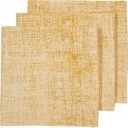 Meyco hydrofiel luiers 3-pack Fine lines - okergeel/geel
