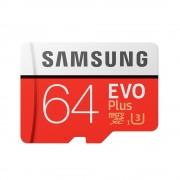 Card Memorie Samsung Evo Plus MicroSDXC 64 GB Clasa 10 UHS-I + Adaptor SD (100MB/s)