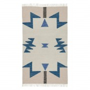Ferm Living Kelim Rug Vloerkleed Blue Triangles Small - Ferm Living