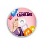 Adesivo Papel CD/DVD 11,5x11,5 cm Cor 4x0 Sem Verniz Meio Corte/ Corte Especial - 100 Unidades