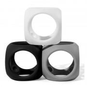 Oibo set 3 jucarii senzoriale flexibile (monocrom)