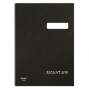Aláírókönyv, A4, 19 elválasztó lappal, karton, DONAU, fekete (D869FK)