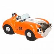Geen Spaarpot oranje sportauto cabriolet 14 cm