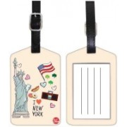 Nutcaseshop NEW YORK Luggage Tag(Multicolor)