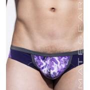 Mategear Kam Jin Reduced Sides Extremely Sexy Mini Bulge Boxer Brief Underwear Purple/Dark Purple 1390803