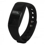 Monitor de ritmo cardiaco Bluetooth pulsera inteligente con camara remota - Negro