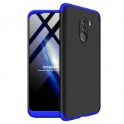 GKK 360 Protection telefon tok hátlap tok Első és hátsó tok telefon tok hátlap az egész testet fedő Xiaomi Pocophone F1 fekete-kék