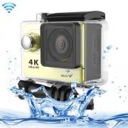 H9 4K Ultra HD1080P 12MP 2 inch LCD Screen WiFi Sports Camera - Yellow