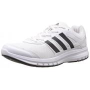 adidas Men's Duramo 6 M White and Cherry Black Mesh Running Shoes - 12 UK