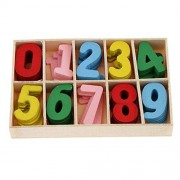 Colourfull Wooden Numbers Set (5 Pcs Each)- Letters for Art and Craft Purpose (Multicolor)