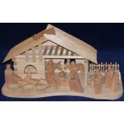 Dreveny rucne vyrezavany betlem - varianta 14a7