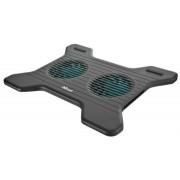 Notebook állvány, ventilátorral, USB, TRUST Xstream Breeze, fekete (TR17805)