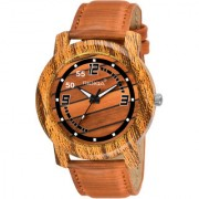 RIDIQA Wooden Traditional Analogue Brown Dial MenS Watch RD-220