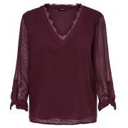 ONLY Bluză pentru femei ONLMACY L/S FOLD UP TOP WVN Port Royale 36