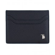 Tod's Grained Leather Credit Card Holder Navy