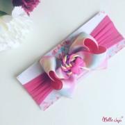 bellejuju Bandolete/Fita Infantil pirulito pink