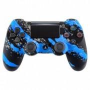 Controller Blue Splatter Wireless Dualshock 4 V2 pentru Playstation 4