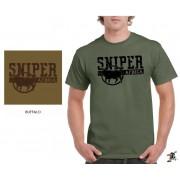 """Sniper Men """"Old school"""" T-Shirt (Olive)"""
