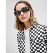ASOS 90's Square Embellished Sunglasses - Black