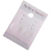 DIY Crafts Plasick Velvet Earring Cards - Hanging Earring Card Holder Velvet Jewelry Display Cards for Earrings Ear Studs Plastic White 2 x 1.5 Inches Velvet Finsh (400 Pcs Pack White)