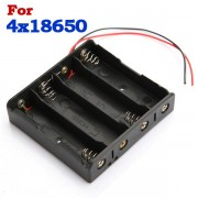 Meco Plastic Battery Storage Case Box Holder For 4 x 18650 Battery