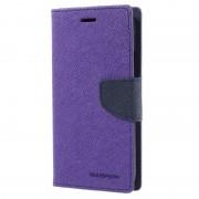 Motorola Moto G5 Mercury Goospery Fancy Diary Wallet Case - Purple / Dark Blue