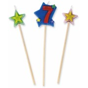 Lumanare decorativa 16 cm 3 buc/set nr. 7 Big Party