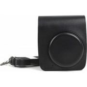 PU lederen camera beschermende tas voor FUJIFILM Instax Mini 90 camera, met verstelbare schouderriem (zwart)