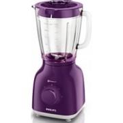 Blender de masa Philips HR210560 400W 1.25L Lame inox 2 viteze Violet Bonus Cantar digital de bucatarie