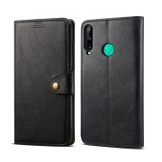 Lenuo Leather tok Huawei P40 Lite E készülékhez, fekete