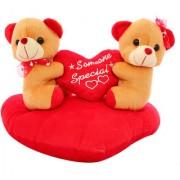 DealBindaas Heart Sofa Couple Valentine Stuff Teddy