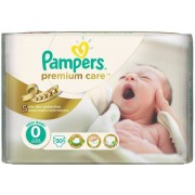 Scutece PAMPERS Premium Care 0 New Born Carry Pack 30 buc