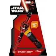 Star Wars digitális karóra és LED elemlámpa szett