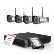 Kit videosorveglianza 1080P Foscam Hd con NVR 4CH e 4 cam da esterno
