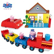 Pi² Peppa Pig Toys Doll Train Car House Scene Building Blocks Action Figures Toys Early Learning Educational Toys