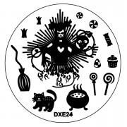 Matrita Metalica Stampila Unghii DXE24 - Halloween
