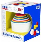 Set de construit AMBI TOYS Pahare colorate 10 luni+ Multicolor