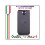 Scocca Cover Housing Completa Tasti flat per HTC One X S720e G23 Nera Black