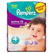 Pampers - Couches Bébé - Active Fit 4 - 7-18 kg - Age 4 - Paquet de 24